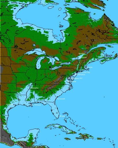 americaMap 100m water rise