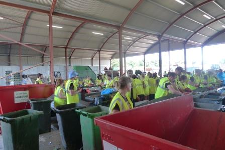The Glastonbury Festival on-site recycling centre