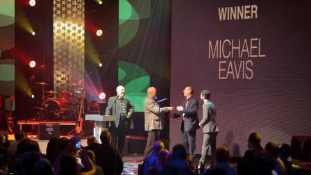 James and Ben give Michael Eavis his 2011 Lifetime Achievement Award