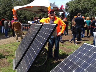 Solar power at the San Francisco Kingsday Festival stage
