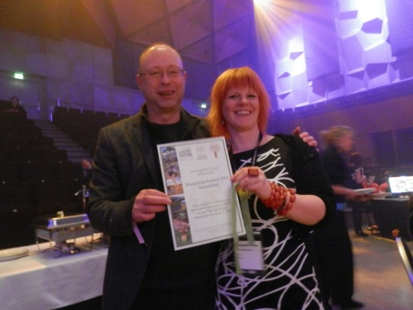 Ilosaarirock collect their Award