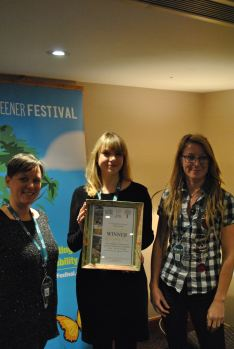 Claire Byrne from the Body & Soul Festival is presented with the festival's award